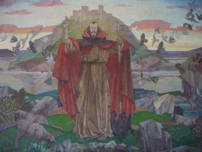 Cuthbert painting at St Cuthbert's Church, Lothian Rd, Edinburgh