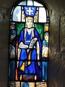 Queen Margaret in her own chapel at the castle